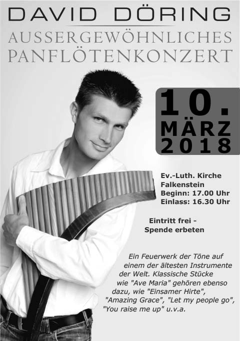Plakat David Döhring, am 10.03.2018 in Falkenstein