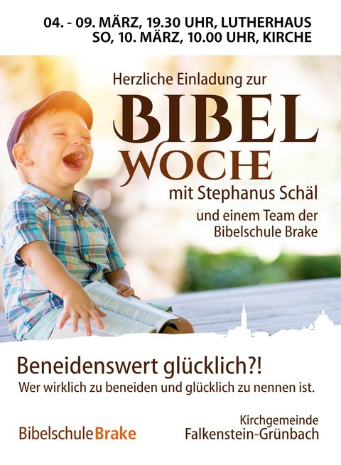 Plakat zur Bibelwoche