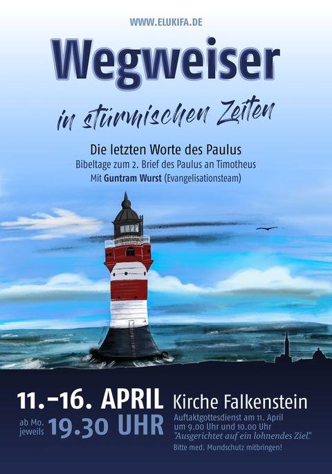 Plakat zur Bibelwoche mit Guntram Wurst