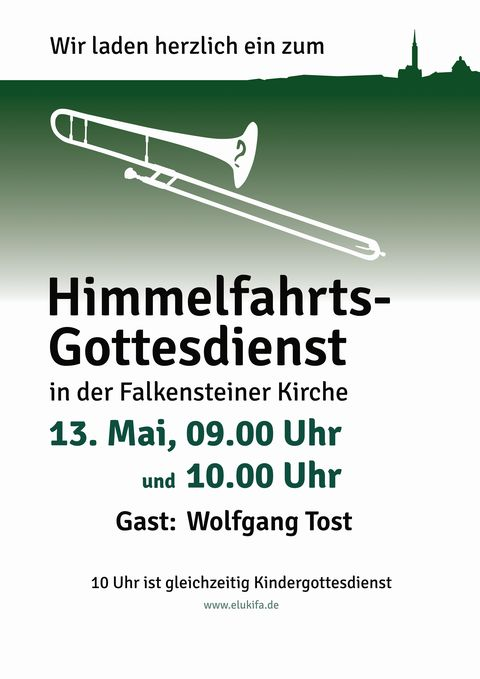 Plakat Himmelfahrts-Gottesdienst